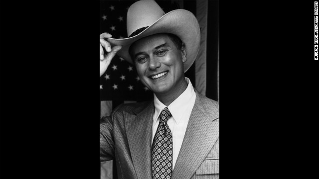 "Hagman poses for a ""Dallas"" promotional photo."