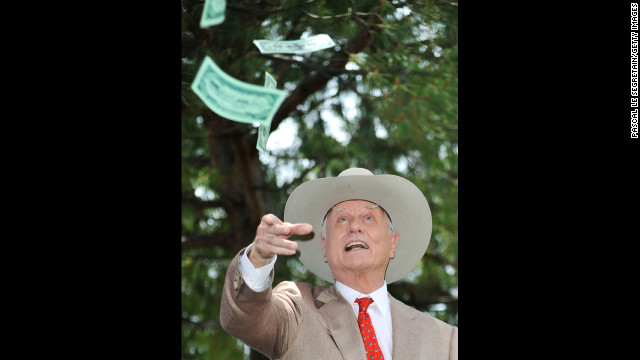 Hagman poses at a photo call for &quot;Dallas&quot; during the 2010 Monte Carlo Television Festival.