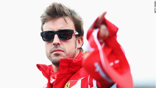 Fernando Alonso was looking cool and relaxed before heading into battle at Interlagos. The Ferrari driver, who started the day 13 points adrift of championship leader and title rival Vettel, qualified in eighth before being upgraded to seventh following the 10-place grid penalty meted out to Williams' Pastor Maldonado.