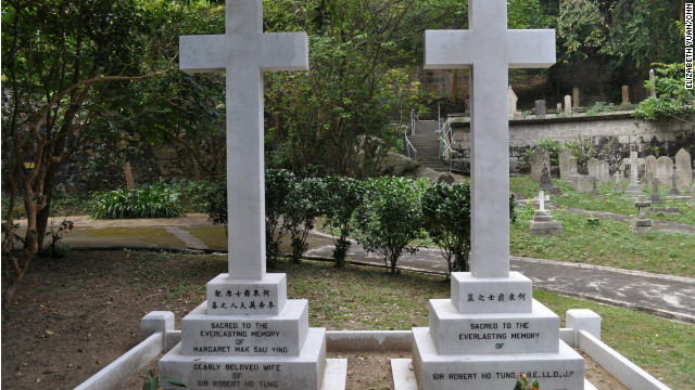 Sir Robert Ho Tung, buried next to his wife, backed Sun Yat-sen's revolutions, built a commercial empire and founded the Chinese Club.