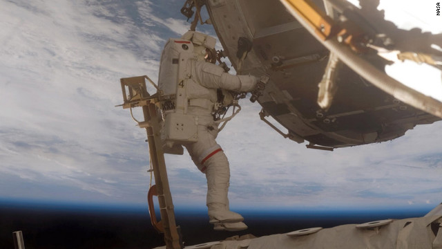 On May 20, 2009, astronaut Scott Parazynski stood on the highest point on Earth and became the first astronaut to successfully summit Mount Everest. He went on five NASA missions from 1994 and 2007. Here, Parazynski participates in the second of five scheduled spacewalks to upgrade the International Space Station.