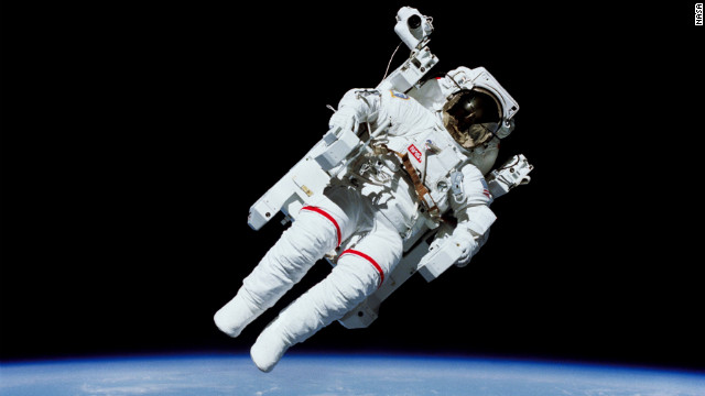 In February 1984, shuttle astronaut Bruce McCandless became the first astronaut to float in space untethered, thanks to a jetpack-like device called the Manned Maneuvering Unit. The units are no longer used, but astronauts now wear a similar backpack device in case of emergency.