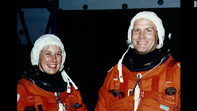 Jan Davis and Mark Lee, who flew on Endeavour mission STS-47 in 1992, were the first couple to go into space together.&lt;br/&gt;&lt;br/&gt;