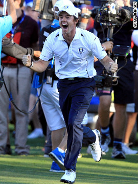 If McIlroy was on song in the individual stakes, he more than played his part in Europe's stunning comeback to win the Ryder Cup at Medinah in Chicago. McIlroy nearly forfeited his singles match by missing the start due to confusion over time zones, but earned a vital point for his side by beating Keegan Bradley as Europe eventually came back from 10-6 down to win 14 1/2 to 13 1/2.