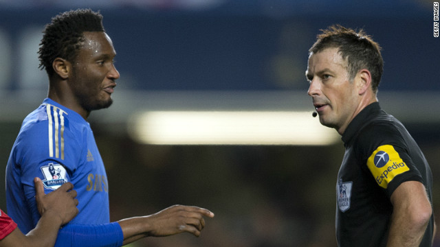 Mark Clattenburg has been cleared of racially abusing Chelsea's Nigerian midfielder John Obi Mikel in late October