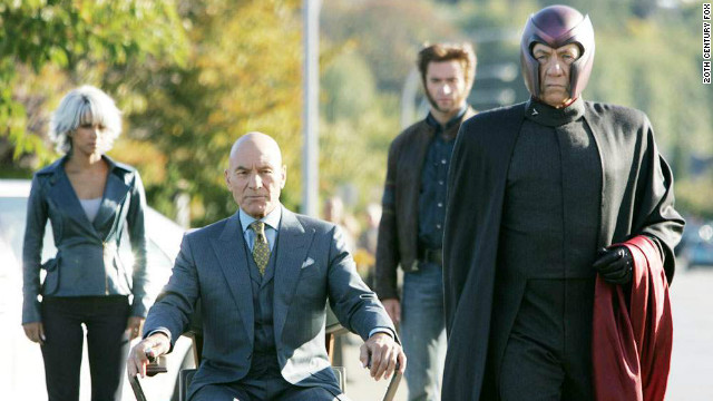 Patrick Stewart and Ian McKellen as Prof. X and Magneto in 2006's 