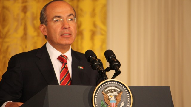 Mexico President Felipe Calderon's six-year term ends Saturday.