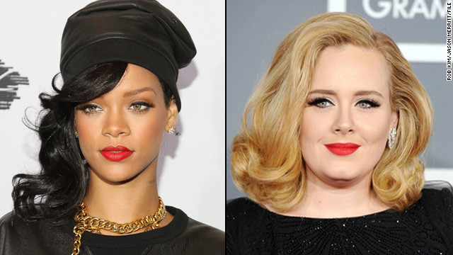 Rihanna lands first No. 1 album, Adele hits sales milestone