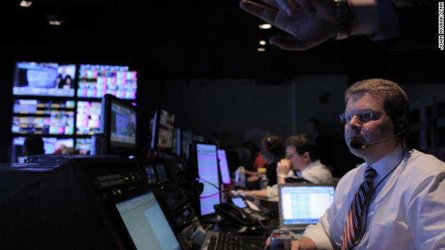 Washington Bureau Chief Sam Feist behind the scenes during CNN's
