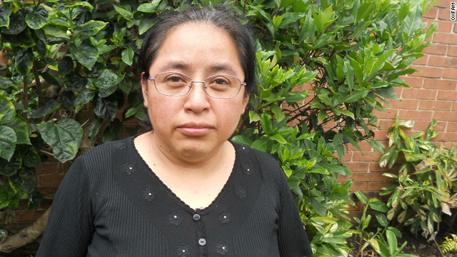 Inés Yoc from Guatemala: Today food is not eaten in the same quantity and quality as it was years ago, when you would buy five pounds of vegetables. Now, we can only buy two pounds.