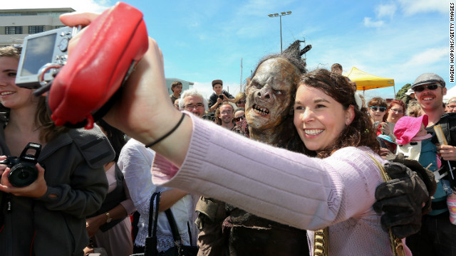 &quot;Hobbit&quot; fans are treated to the sight of orcs wandering the streets of New Zealand's capital.
