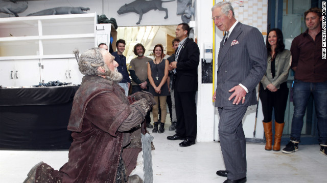 Even Britain's Prince Charles got into the spirit when he met Mark Hadlow who plays the character &quot;Dori&quot; at Wellington's Weta Workshop earlier this month.