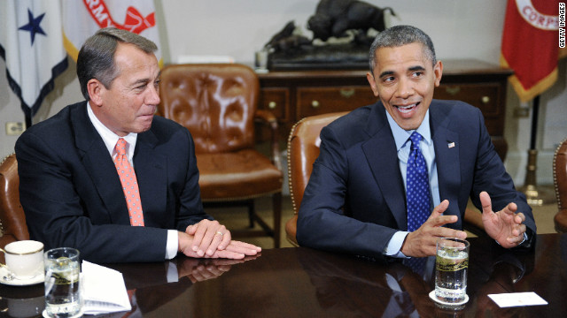 Obama, Boehner meet at the White House