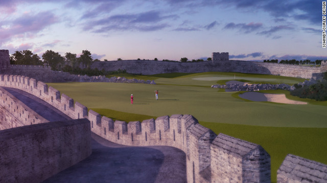 The Great Wall of China hole will provide a challenge with a difference for the golfers who play the new course.