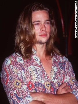 "Pitt's long locks were on full display at the September 1993 premiere of his film ""True Romance."" Looking back, Pitt told CNN, he wouldn't have any career advice for his younger self. ""I think that guy did all right. I think he figured it out quite fine. I don't think I need to tell him much."""
