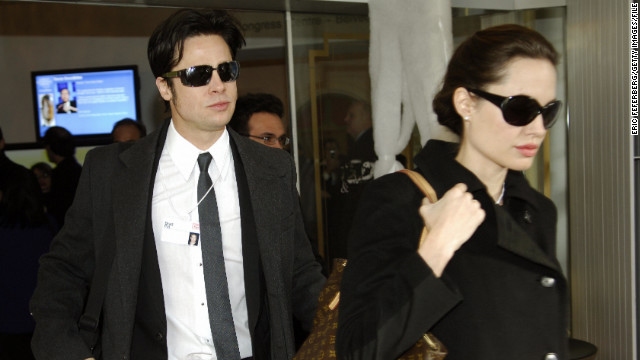 In January 2006, the pair (seen here in Switzerland at the time) announced that they were expecting a baby. Pitt and Jolie's daughter, Shiloh, arrived that May.