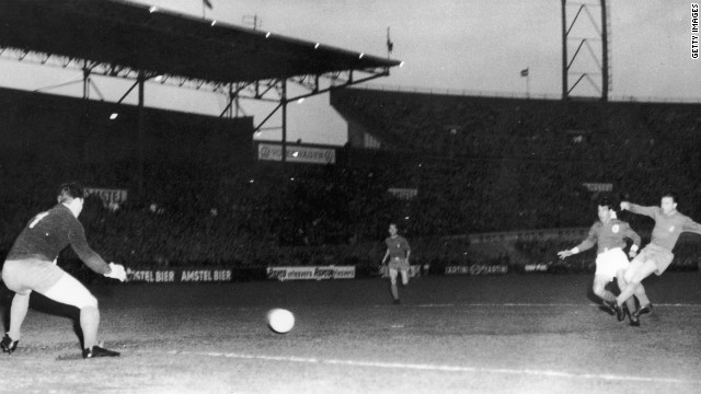 Benfica faced then five-time winners Real Madrid in the 1962 final in Amsterdam, where Guttmann's side produced a famous 5-3 victory. Puskas scored a first-half hat-trick for Real against his former manager but it was not enough as Eusebio fired the Lisbon side to glory with two second-half goals. <br/><br/>