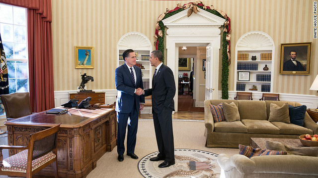 American leadership focus of Obama-Romney lunch
