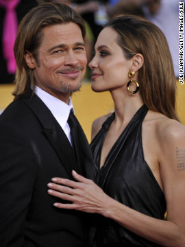 Both Pitt and Jolie are supporters of marriage equality, and have said that they won't marry until everyone can. Yet the couple has taken one step closer to the altar this year as Pitt and Jolie announced their engagement in April, a few months after they were seen at the 2012 SAG Awards. The two were prompted by their kids to get engaged, Pitt told CNN in November, but he clarified that they're also getting married for themselves.