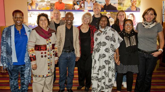 The top 10 Heroes of 2012 attend a welcome reception Thursday night in Los Angeles.
