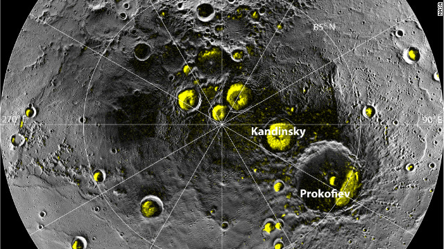 La NASA halla evidencia de agua y materiales orgánicos en Mercurio