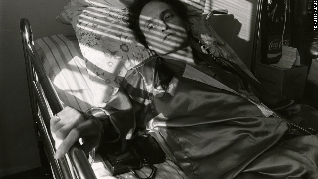 Peta lays in a bed at Pater Noster House in 1992. See the full gallery at <a href='http://life.time.com/history/behind-the-picture-the-photo-that-changed-the-face-of-aids/?iid=lb-gal-viewagn#1' target='_blank'>Life.com</a>.