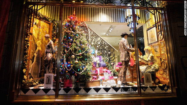 Henri Bendel on Fifth Avenue unveiled its festive holiday displays on November 15. 