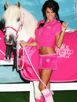 British TV celebrity Katie Price, pictured launching a range of equestrian wear, has spoken of the therapeutic benefits of riding horses.