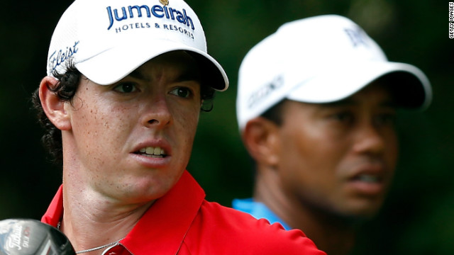 Sports giant Nike now has the two biggest names in golf on their books after Rory McIlroy (L) joined Tiger Woods at their stable.