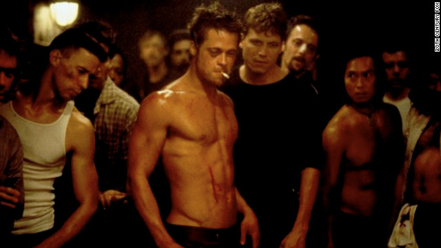 "After ""Twelve Monkeys,"" Pitt went on to knock out ""Seven Years in Tibet"" (1997), ""Meet Joe Black"" (1998) and ""Fight Club"" (1999), as seen here. The then 35-year-old actor captivated audiences as the volatile Tyler Durden."