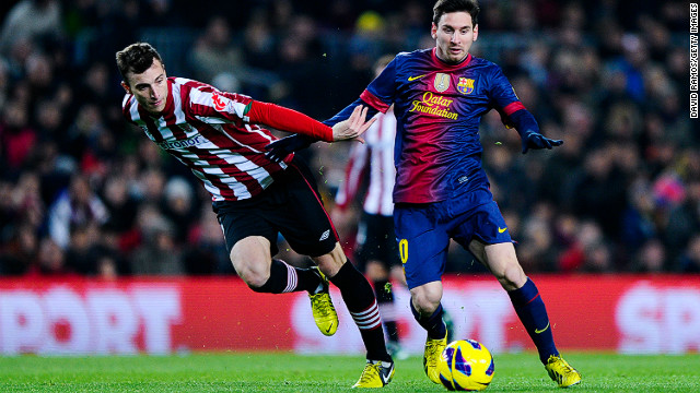 Lionel Messi's two goals against Bilbao leave him one goal away from matching a 40-year old record set by Gerd Muller.
