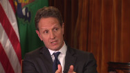 Geithner: No cliff deal without rates going up