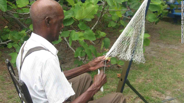 Fishing is a big industry for the Gullah/Geechee people. They still use nets made by hand and cast them the way their ancestors did centuries ago.