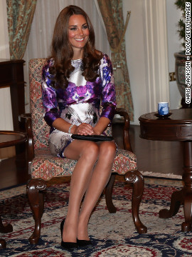 "She wore a Prabal Gurung dress while visiting the Istana in Singapore on September 11. ""So xctd that I just stopped some strangers on the street n showed them the pic of Kate Middleton in our dres,"" <a href='https://twitter.com/prabalgurung/status/245531890067595264' target='_blank'>Prabal Gurung tweeted</a> that day."