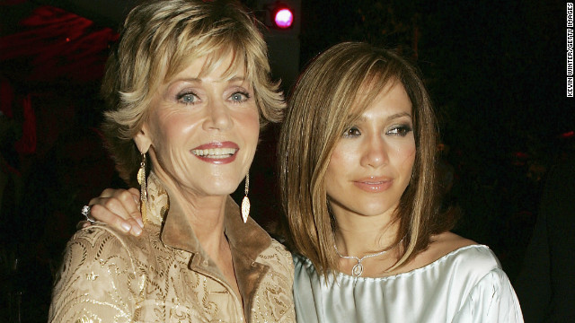 Fonda and Jennifer Lopez appear together after the premiere of their film &quot;Monster-In-Law,&quot; in 2005.