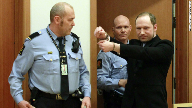 &lt;strong&gt;February 6: &lt;/strong&gt;Anders Behring Breivik arrives for his court hearing in Oslo, Norway. He was sentenced to 21 years in prison on August 24 for killing 77 people in two terror attacks in Norway in 2011. Eight people died in a bombing in Oslo, while 69 young people were shot to death on nearby Utoya island.