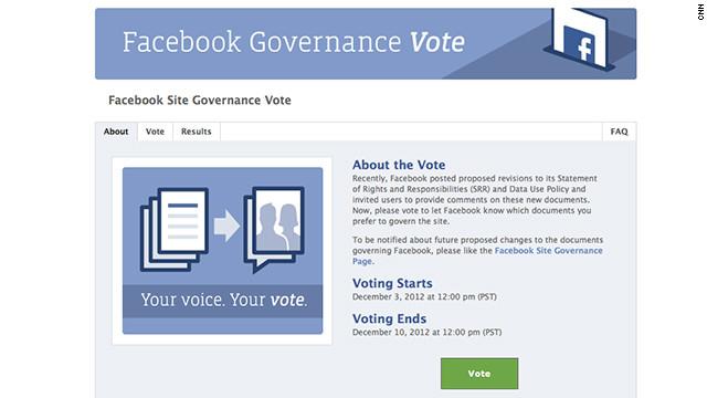 Facebook pone a votación los últimos cambios de privacidad