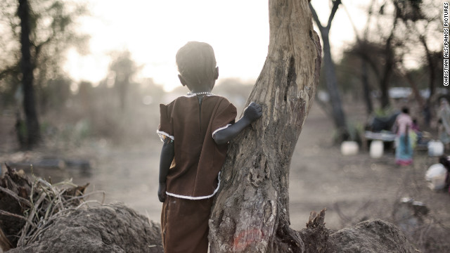 May 7: A young girl looks over the Doro refugee camp in South Sudan in May. More than 500,000 people have fled from Sudan into South Sudan as a result of the ongoing conflict between the two states.
