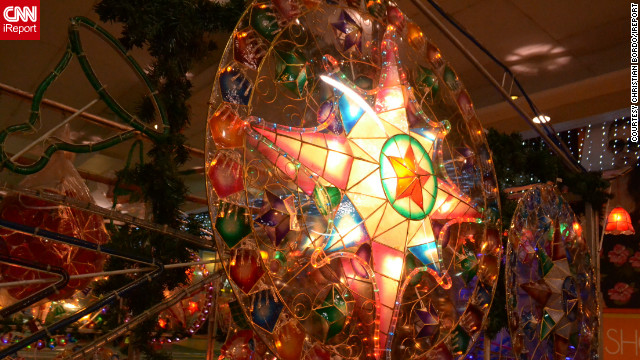 iReporter <a href='http://ireport.cnn.com/docs/DOC-887174'>Christian Bordo</a> captured this image of a parol -- a star shaped lantern made out of bamboo and paper, traditional to Filipino Christmas celebrations.