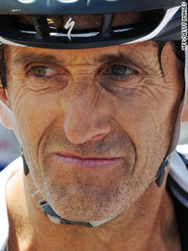 Prost is a keen cyclist and is pictured here at the end of the 2009 L'Etape du Tour. The race enables 8,500 amateur cyclists to attempt a mountain stage of the Tour de France each year. The 2009 event was staged between Montelimar and Mout Ventoux, with Prost finishing 258th.