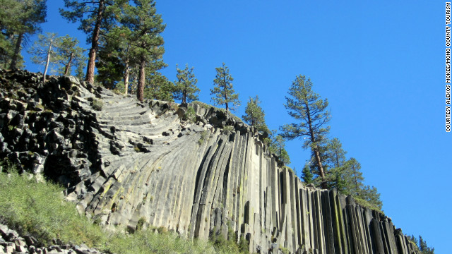Devils Postpile National Monument, with its 60-foot curtain of basalt columns made from molten lava, is just one magnificent part of the Eastern Sierra. 