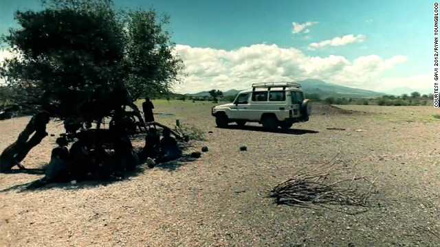 Difficult terrain means health workers often sleep in their vehicle and have to complete their journey on foot. Vaccines must be kept cool, but a cold box provides only limited protection.