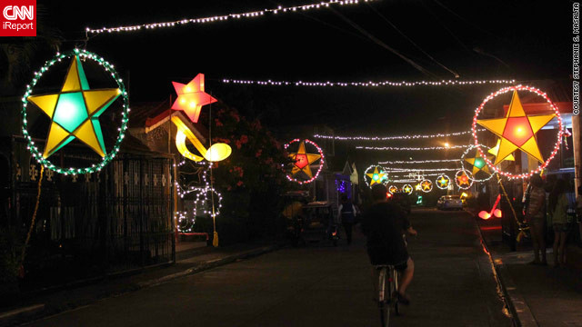 The parol lanterns are most likely nowadays to be powered by electronic lights, but <a href='http://ireport.cnn.com/docs/DOC-888450'>their beauty</a> still caught the eye of iReporter Stephanie Masalta.