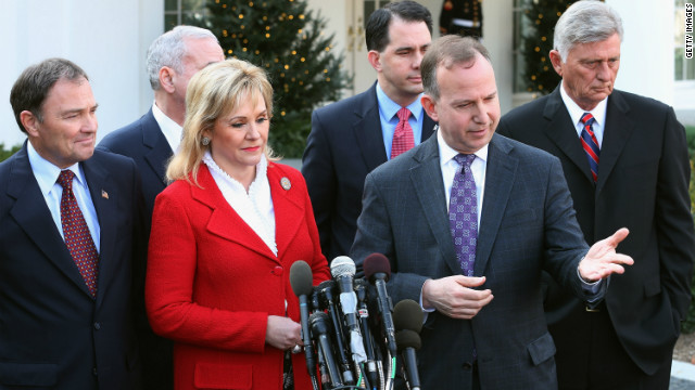 Governors push for common ground on 'fiscal cliff' at White House meeting