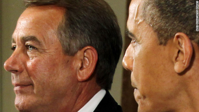 Boehner visits White House for fiscal cliff talks