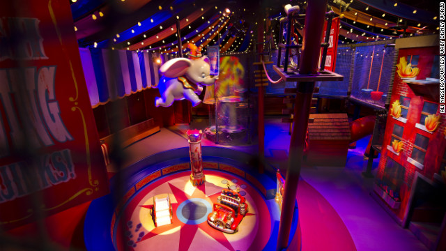 The revamped Dumbo ride has a new indoor lounge where guests receive a pager that virtually holds their place in line.