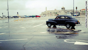 Classic American cars still in use in Cuba are a curiosity to many foreign visitors.