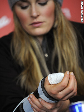 Another serious injury, this time to her thumb, ruled Vonn out of the World Ski Championships in Val d'Isere back in February 2009.