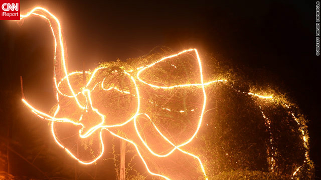 iReporter Aaron Banaticla loved this <a href='http://ireport.cnn.com/docs/DOC-887310'>outlandish elephant light display</a> near his Laguna home, although he was at a loss to explain why locals had chosen the creature for their Christmas decorations.
