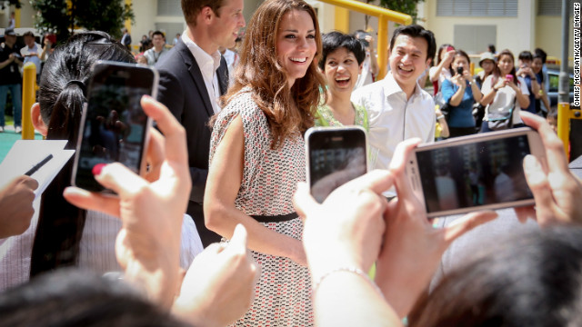 Catherine, Duchess of Cambridge on September 12, 2012 in Singapore. 